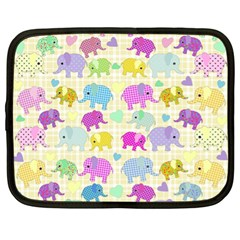 Cute Elephants  Netbook Case (xl)  by Valentinaart