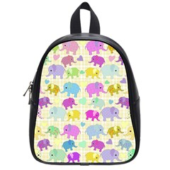 Cute Elephants  School Bags (small)  by Valentinaart