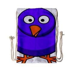 Cartoon Bird Purple Drawstring Bag (small) by Alisyart