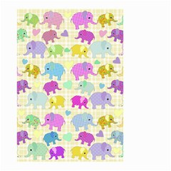 Cute Elephants  Small Garden Flag (two Sides) by Valentinaart