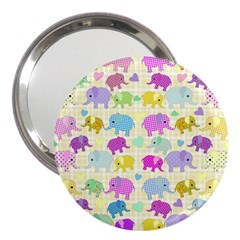 Cute Elephants  3  Handbag Mirrors by Valentinaart