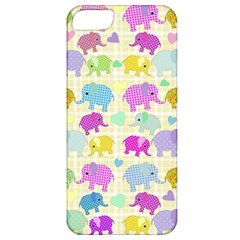 Cute Elephants  Apple Iphone 5 Classic Hardshell Case by Valentinaart