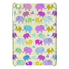 Cute Elephants  Apple Ipad Mini Hardshell Case by Valentinaart