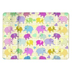 Cute Elephants  Samsung Galaxy Tab 10 1  P7500 Flip Case by Valentinaart