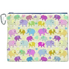 Cute Elephants  Canvas Cosmetic Bag (xxxl) by Valentinaart