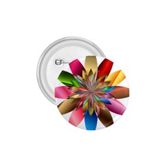 Chromatic Flower Gold Rainbow 1 75  Buttons by Alisyart