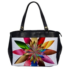 Chromatic Flower Gold Rainbow Office Handbags by Alisyart
