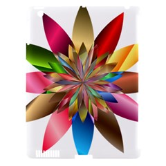 Chromatic Flower Gold Rainbow Apple Ipad 3/4 Hardshell Case (compatible With Smart Cover) by Alisyart