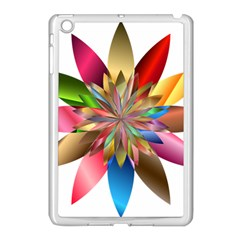 Chromatic Flower Gold Rainbow Apple Ipad Mini Case (white) by Alisyart