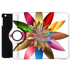 Chromatic Flower Gold Rainbow Apple Ipad Mini Flip 360 Case by Alisyart
