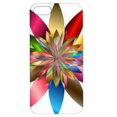 Chromatic Flower Gold Rainbow Apple Iphone 5 Hardshell Case With Stand by Alisyart