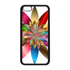 Chromatic Flower Gold Rainbow Apple Iphone 5c Seamless Case (black) by Alisyart
