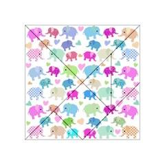 Cute Elephants  Acrylic Tangram Puzzle (4  X 4 ) by Valentinaart