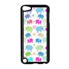 Cute Elephants  Apple Ipod Touch 5 Case (black) by Valentinaart