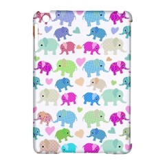 Cute Elephants  Apple Ipad Mini Hardshell Case (compatible With Smart Cover) by Valentinaart