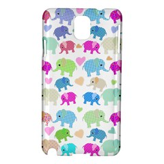 Cute Elephants  Samsung Galaxy Note 3 N9005 Hardshell Case by Valentinaart