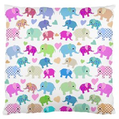 Cute Elephants  Standard Flano Cushion Case (one Side) by Valentinaart