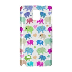 Cute Elephants  Samsung Galaxy Note 4 Hardshell Case by Valentinaart