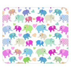 Cute Elephants  Double Sided Flano Blanket (small)  by Valentinaart
