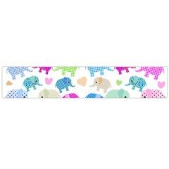 Cute Elephants  Flano Scarf (large) by Valentinaart