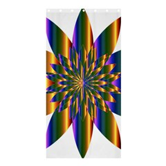 Chromatic Flower Gold Rainbow Star Light Shower Curtain 36  X 72  (stall)  by Alisyart