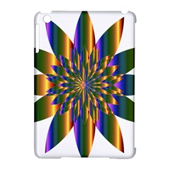 Chromatic Flower Gold Rainbow Star Light Apple Ipad Mini Hardshell Case (compatible With Smart Cover) by Alisyart