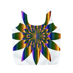 Chromatic Flower Gold Rainbow Star Light Full Print Recycle Bags (m)  by Alisyart