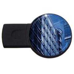 Building Architectural Background Usb Flash Drive Round (4 Gb) by Simbadda