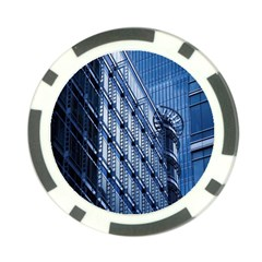 Building Architectural Background Poker Chip Card Guard by Simbadda