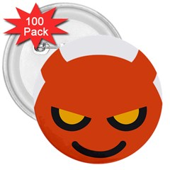 Devil 3  Buttons (100 Pack)  by Alisyart
