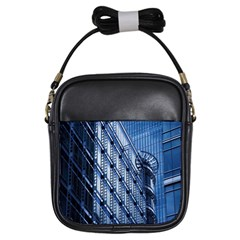 Building Architectural Background Girls Sling Bags by Simbadda