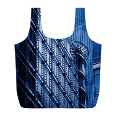 Building Architectural Background Full Print Recycle Bags (l)  by Simbadda