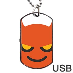 Devil Dog Tag Usb Flash (two Sides) by Alisyart