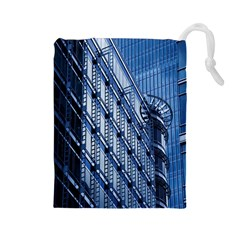 Building Architectural Background Drawstring Pouches (large)  by Simbadda