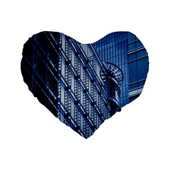 Building Architectural Background Standard 16  Premium Flano Heart Shape Cushions by Simbadda