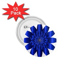 Chromatic Flower Blue Star 1 75  Buttons (10 Pack) by Alisyart