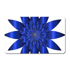 Chromatic Flower Blue Star Magnet (rectangular) by Alisyart