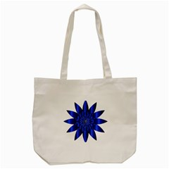 Chromatic Flower Blue Star Tote Bag (cream) by Alisyart