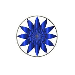 Chromatic Flower Blue Star Hat Clip Ball Marker (4 Pack) by Alisyart