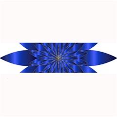 Chromatic Flower Blue Star Large Bar Mats by Alisyart