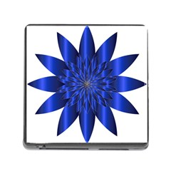 Chromatic Flower Blue Star Memory Card Reader (square) by Alisyart