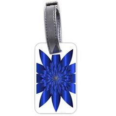 Chromatic Flower Blue Star Luggage Tags (one Side)  by Alisyart