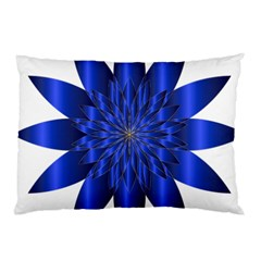 Chromatic Flower Blue Star Pillow Case (two Sides) by Alisyart