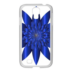 Chromatic Flower Blue Star Samsung Galaxy S4 I9500/ I9505 Case (white) by Alisyart