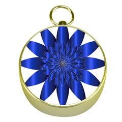 Chromatic Flower Blue Star Gold Compasses by Alisyart