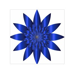 Chromatic Flower Blue Star Small Satin Scarf (square) by Alisyart