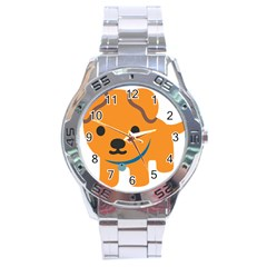 Dog Stainless Steel Analogue Watch by Alisyart