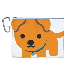 Dog Canvas Cosmetic Bag (l) by Alisyart
