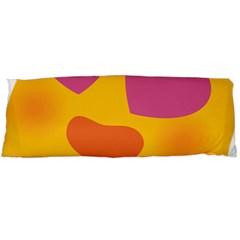 Emoji Face Emotion Love Heart Pink Orange Emoji Body Pillow Case Dakimakura (two Sides) by Alisyart