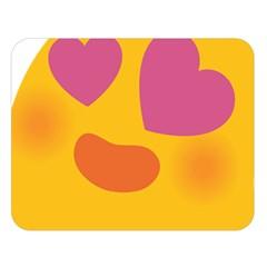 Emoji Face Emotion Love Heart Pink Orange Emoji Double Sided Flano Blanket (large)  by Alisyart